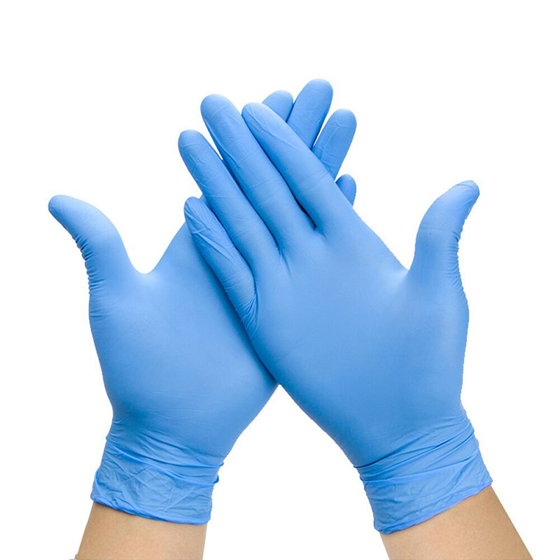 DISPOSABLE NITRILE PROTECTIVE GLOVES