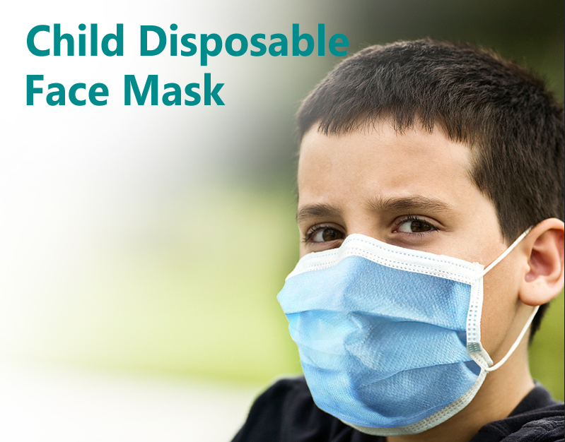 BLUE KIDS 3-LAYER DISPOSABLE FACE MASK