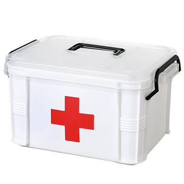 PLASTIC FAMILY FIRST AID KIT MEDICAL BOX
